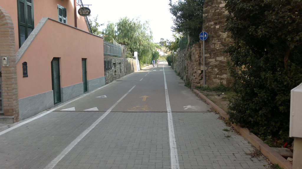 La pista a Santo Stefano al Mare