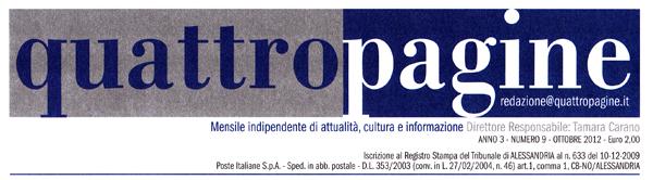 """Leggi l'articolo """"Gavi e la sua scritticre Clara Cipollina"""" pubblicato sull'edizione di """"quattropagine"""" dell'ottobre 2012."""